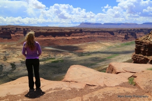 Kirsten at Hite Overlook. See the